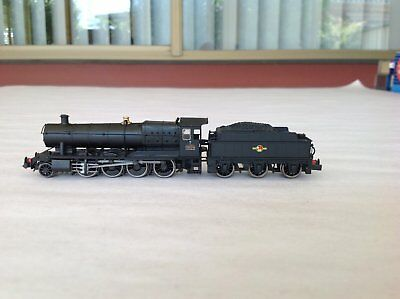 DAPOL N GAUGE Steam Locomotive # 3836, 2.8.0 BR Unlined Black (Late Crest).