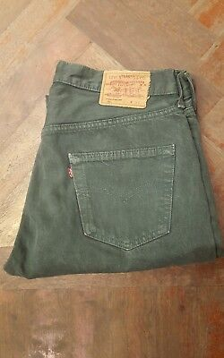 Vintage Levi's 501 jeans green Made in Usa W36 L32