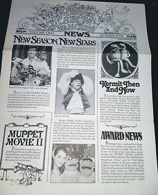 Vintage Muppet Show Fan Club Newsletter Vol. 2, No. 5, 1980