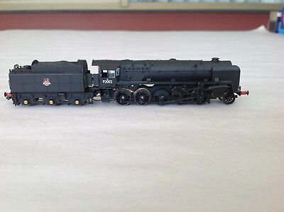 DAPOL N GAUGE Steam Locomotive ND-090B BR 9F Single Chimney & BR1G Tender E/Cres