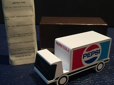 Pepsi-Cola LED clock Delivery Truck UNUSED PROMO The Choice of a New Generation
