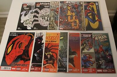Lot of 12 Mixed Spider-Man Spider-Verse Ultimate 2099 VF/NM
