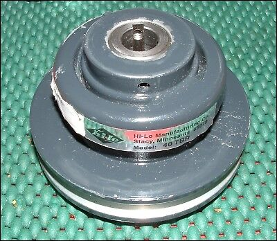 "40-Tbr Hi Lo Pulley Variable Speed 1-Groove 1/2"" Bore ~ New Shelf Surplus"