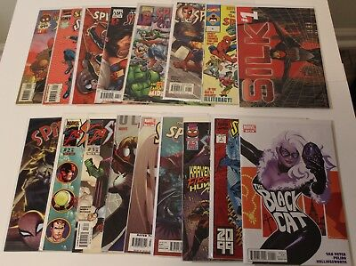 Lot of 17 Mixed Spider-Man Amazing Ultimate 2099 Silk Black Cat VF/NM