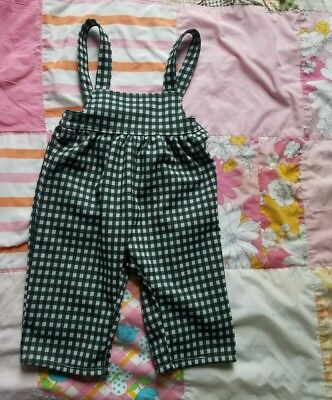 VINTAGE Toddler Baby Overalls Green Handmade. 6-12months Holiday Christmas