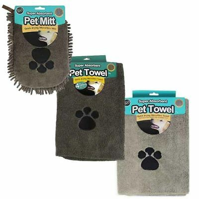 Super Absorbent Quick Drying Microfibre Pet Dog Cleaning Towel 100cm x 60cm