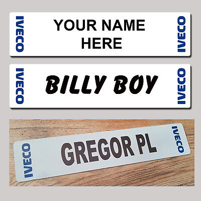 IVECO Lorry Truck Trucker Plate  Windscreen Custom Sign Name & Show Plate - MTP
