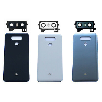 Back Housing Battery Cover Rear Door Glass + Tape + Back Camera Cover For LG G6