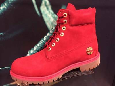 cf7145ced72 TIMBERLAND 6 INCH PREMIUM 40th Ruby Red FIRE Waterproof Suede Leather Snow  BOOTS