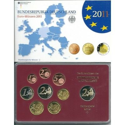 2011 Germany Divisional Proof Of 5 Ticks 9 Coins Euro Mf8792