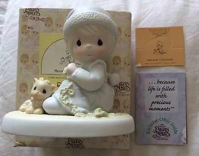 Precious Moments MEOWIE CHRISTMAS New In Box