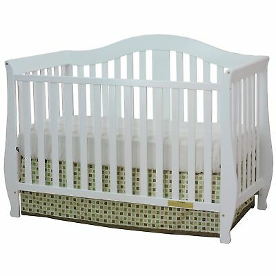 Athena AFG Desiree 4-in-1 Convertible Crib with Guardrail White Top Daily Deal