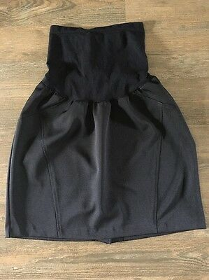 Two Hearts Maternity Black Knee Length Skirt Size Large L