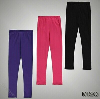 Junior Girls Branded Miso Lightweight Stretchy Classic Leggings Size Age 7-13