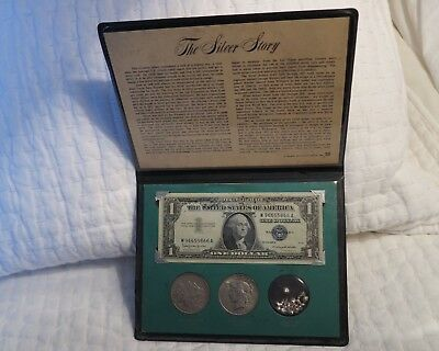The Silver Story Coin & Currency Set. Silver Certificate, Morgan & Peace Dollar
