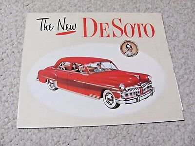 1950 DeSOTO (USA) SALES BROCHURE...