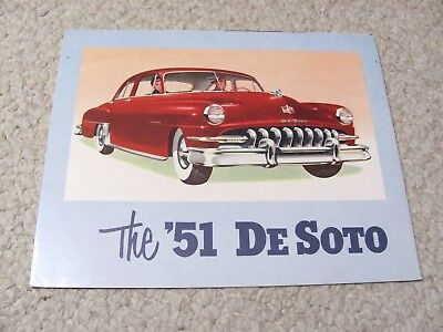 1951 DeSOTO (USA) SALES BROCHURE...