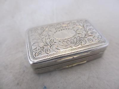 Sterling Silver Vinaigrette antique Georgian hallmarked B'ham 1819. PHN02520