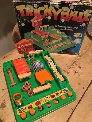 Vintage Tomy Tricky Bille Ball Scramble Screwball Game Boxed