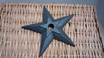 """1 Cast Iron Large Puffed Candle Star  size 8 3/4"""" with a 7/8"""" hole #L020-S"""
