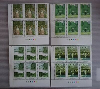 Gb U/m Commemorative Stamp Traffic Light Blocks -  British Gardens -  24.8.83