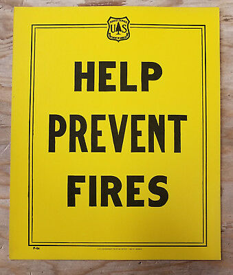 Forest Service Sign - Help Prevent Forest Fires