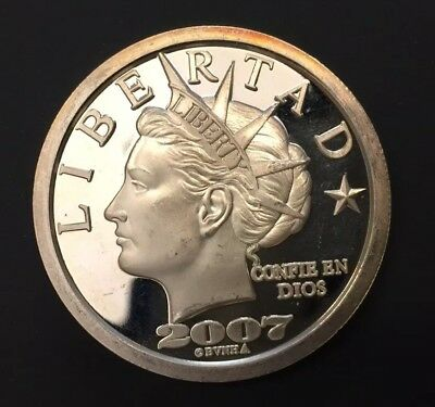 2007 Puerto Rico $20 Dollar Silver Proof Round Norfed  99.999 Pure Silver Ounce