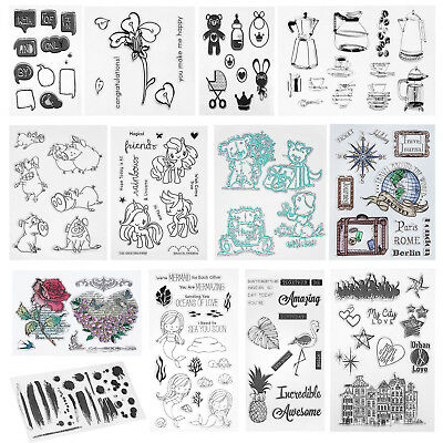 Silicone Clear Rubber Stamp DIY Scrapbooking Diary Card Seal Album Decor Gift