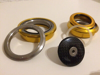 Chris King InSet ZS56/ZS44 Gold inkl. Tune Carbon Ahead A-Head Kappe eloxiert
