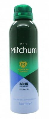 Mitchum Ice Fresh Deodorant 200Ml - Men's For Him. New. Free Shipping