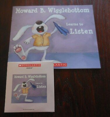 Howard B Wigglebottom Learns to Listen Scholastic Listening Center Book with CD
