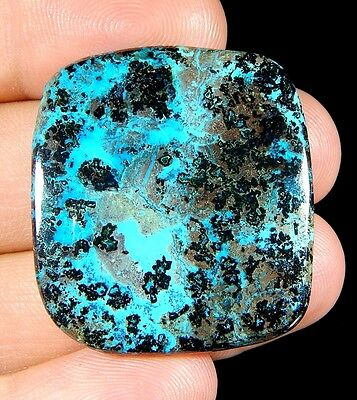 58 Ct 100% Natural Deep Blue Azurite Octagon Cabochon Untreated Top Gemstone B43