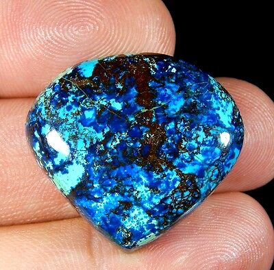 45 Ct Superb 100% Natural Deep Blue Azurite Pear Cabochon Untreated Gemstone D31