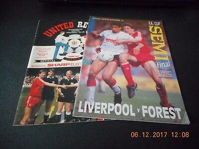 Liverpool V Nottingham Forest F.a.cup Semi Final 15/4/1989 +Replay 7/5/1989
