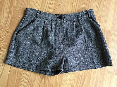 Girls George Grey / Silver Sparkle Shorts Size 11-12 Year