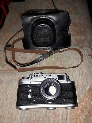 ZORKI 4K  rangefinder camera with Jupiter 8, based on Leica, after CLA service