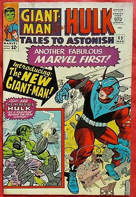 Tales to Astonish 65 Marvel Silver Age 1965 New Costume for Giant-Man