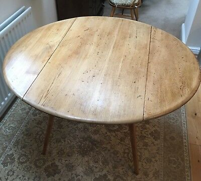 Ercol Table - Round Drop Leaf