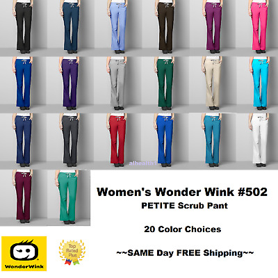 Wonder Wink Wonder Work Women's ~PETITE~ Scrub Pants 502 ~FREE SAME DAY SHIP~