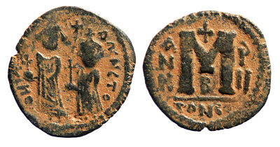 Byzantine Heraclius Follis Contemporary imitation Sasanian occupation of Syria