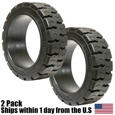 2PK 14x4-1/2x8 Tire Wide Track Solid Forklift 14x4.5x8 Traction Tire 144128