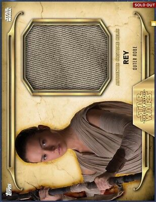 Topps Star Wars Digital Card Trader - Rey Gold Relic Outer Robe cc 50