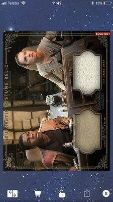 Topps Star Wars Digital Card Trader - Rey & Finn Dual Costume Relic cc 445