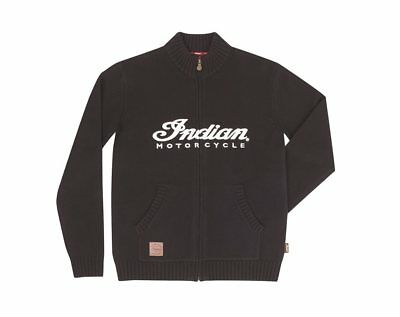 Indian Authentic Logo Knit Zip Thru Medium 286627803