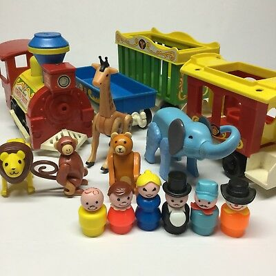 Vtg Fisher Price Little People Circus Train 991 Set Complete Extras