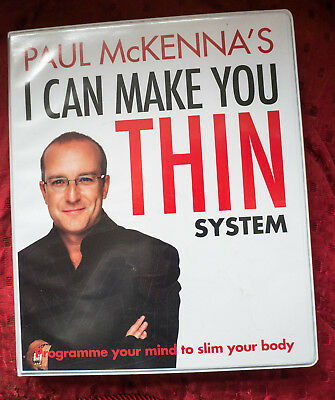 Paul McKenna 5 cd's I CAN MAKE YOU THIN Programme your mind to slim your body