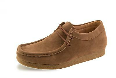 New Mens Winter Casual Lace Up Fashion Ankle Wallabee Leather Suede Shoes Uk 6 1