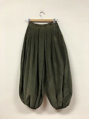 Unique VTG Olive Green Perry Ellis Corduroy Pantaloon/Balloon Pants, Fabulous!!