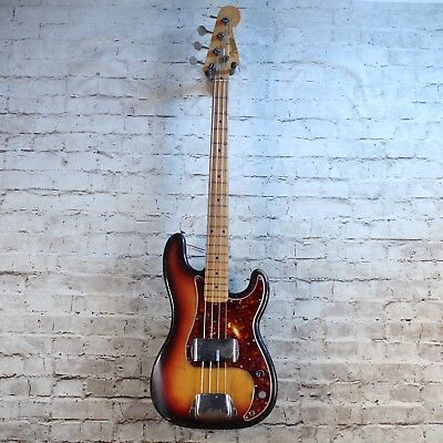 Fender Precision Bass with Maple Fingerboard 1958 Three Tone Sunburst W/ OHSC