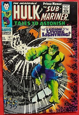 Tales to Astonish 97 Marvel Silver Age 1967 vfn/nmt